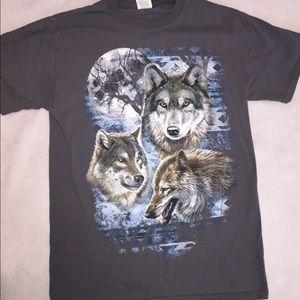 Vintage 90s Wolf Shirt